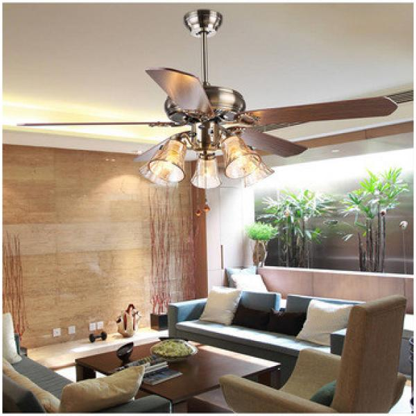 wood blades 52 inch American village style ceiling fan with light indoor&out door use