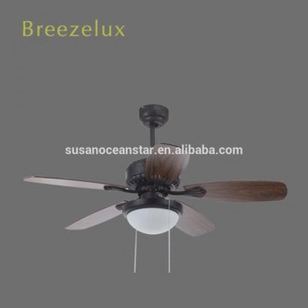 Good price 52inch designer ceiling fan wood blade with iron glass shade ceiling fan Pendant Lights
