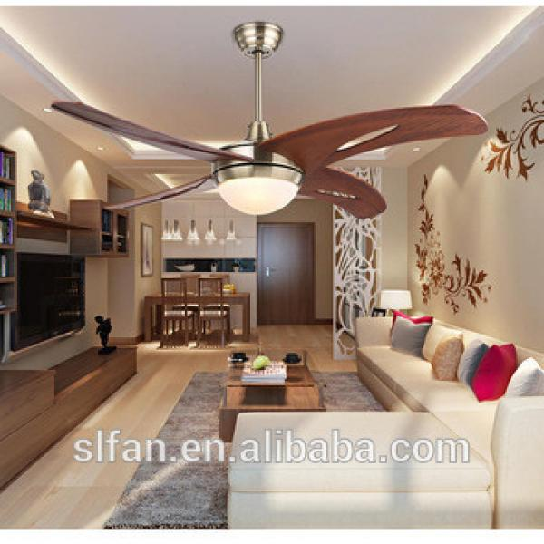 """48"""" bronze finish wood blade ceiling fan with single led light kit 220V remote control"""
