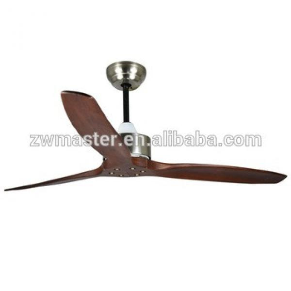 52inches Wooden blades ceiling fan for restaurant