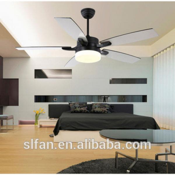 52 inch AC motor ceiling fan with 5 blades and single light kit remote control 12 volt motor