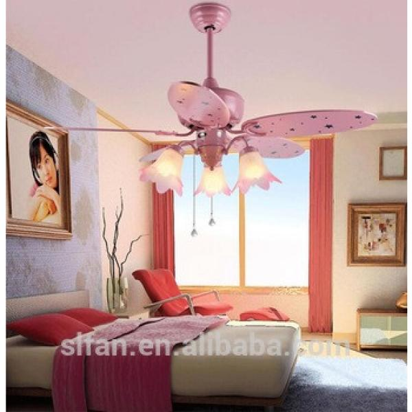 "42"" colorful wood blade home decorative ceiling fan light with pull cord control"