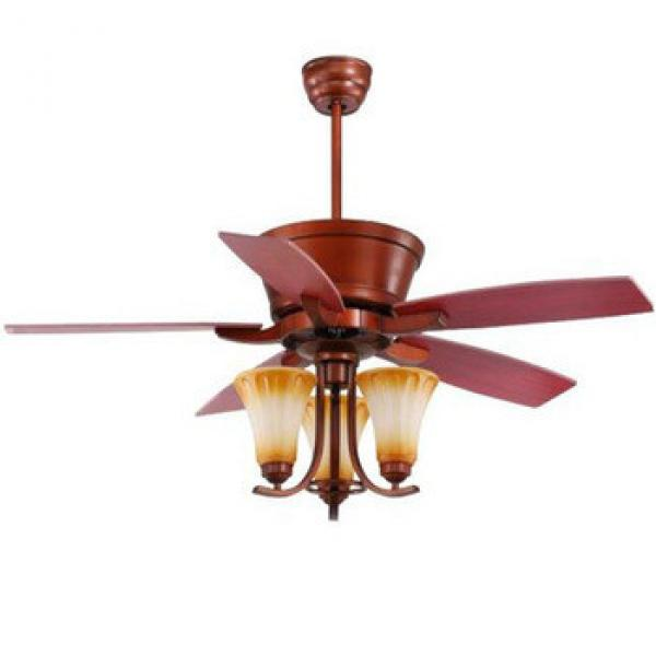 """52"""" 1320mm wood blade ceiling fan with lights and remote control"""