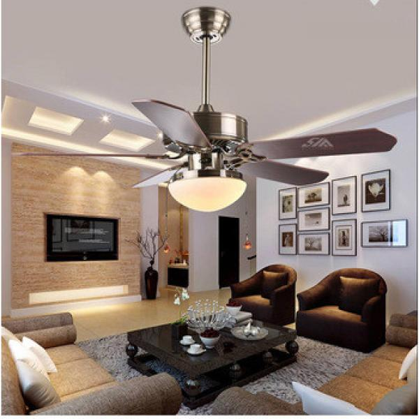 42 inch ceiling fan light with 5 pieces wood blades and single LED light kit with remote control