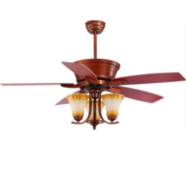 American style luxury design ceiling fan with lights DC/AC motor rope control