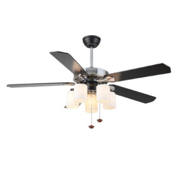 "52"" wood blade ceiling fan with lights and pull cord control"