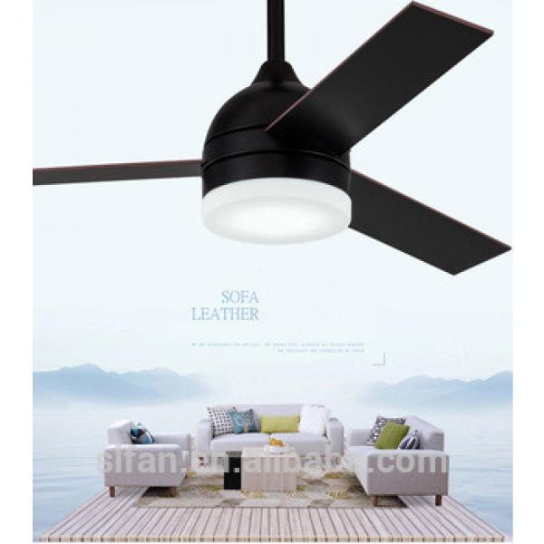 "42"" ceiling fan wood blades and glass light kits for dining room modern style fancy fan"