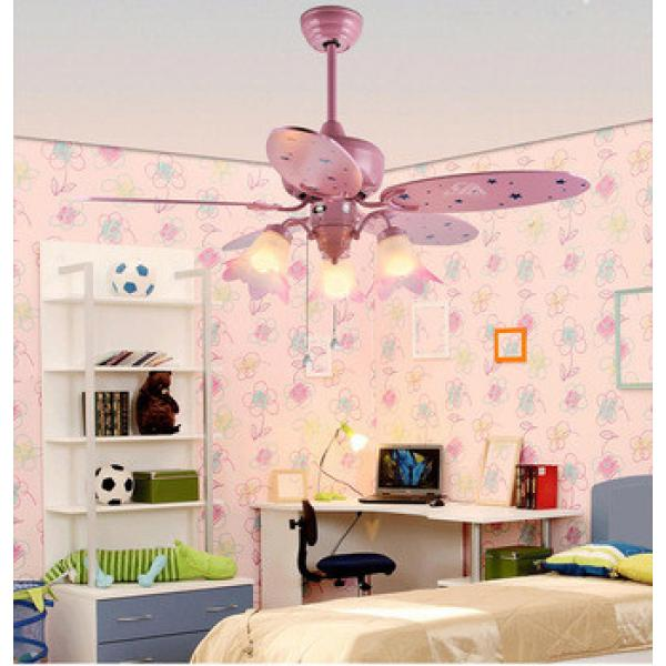 52 inch ceiling fan light with 5 pieces poly wood blade and E27 light,CE,UL approves energy saving