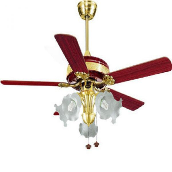 "52"" pull cord control fashionable design wood blade high rpm ceiling fan with light"