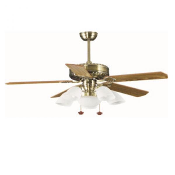 52 inch wood blade ceiling fan with light pull cord control CE SAA CB certificate approved
