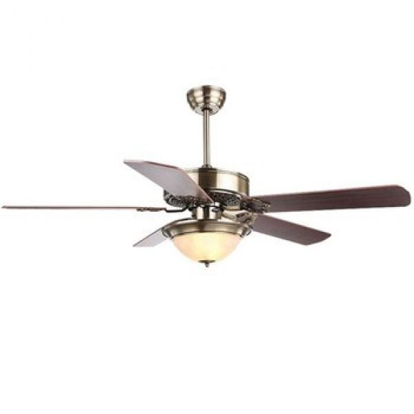 """52"""" bronze finished energy saving hugger ceiling fan with single light kit and five pieces reversible wood blades remote control"""