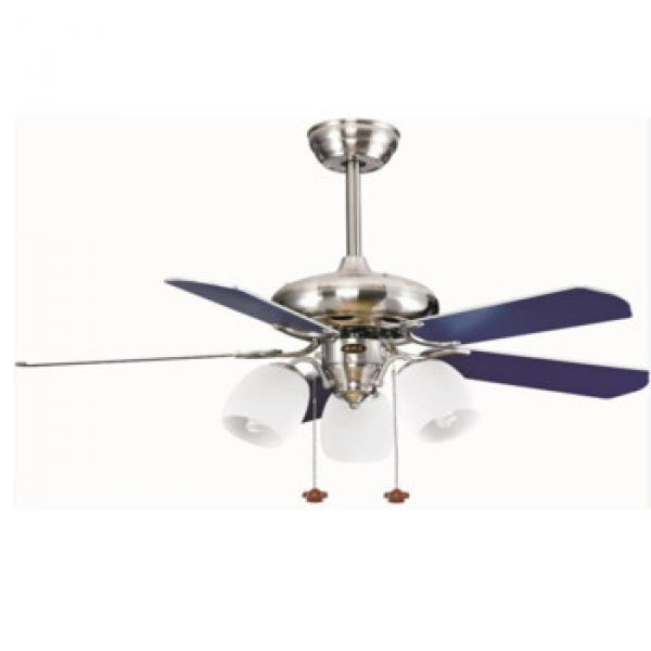 europe style classic design ceiling fan with lights wood blade ac dc motor wall control