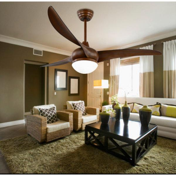 52 inch American style ceiling fan with LED light and 3 pieces reversible plastic blades,remote control