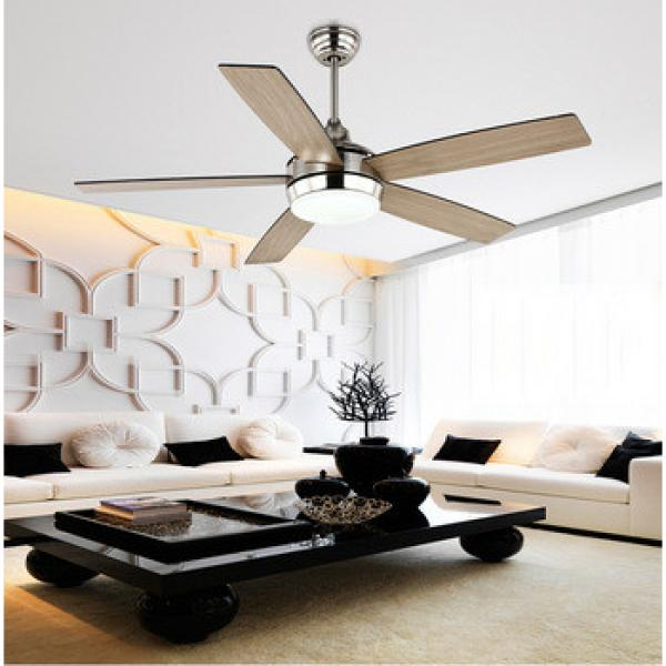 52 inch remote control flush mount indoor ceiling fan with led light
