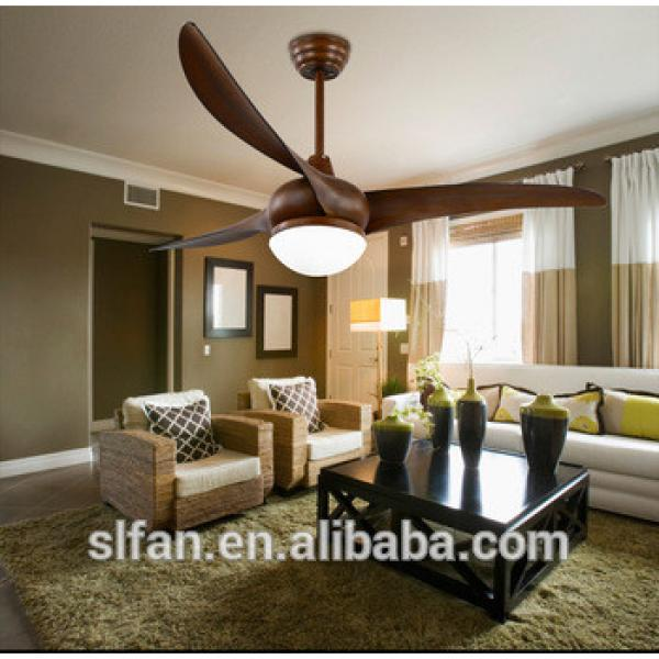 "52"" American style plastic ceiling fan with light and remote control big power AC/DC motor"