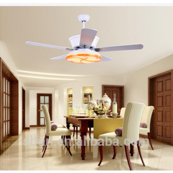 "52"" ceiling fan white/silver blades and glass light kits for any room modern style fancy fan"
