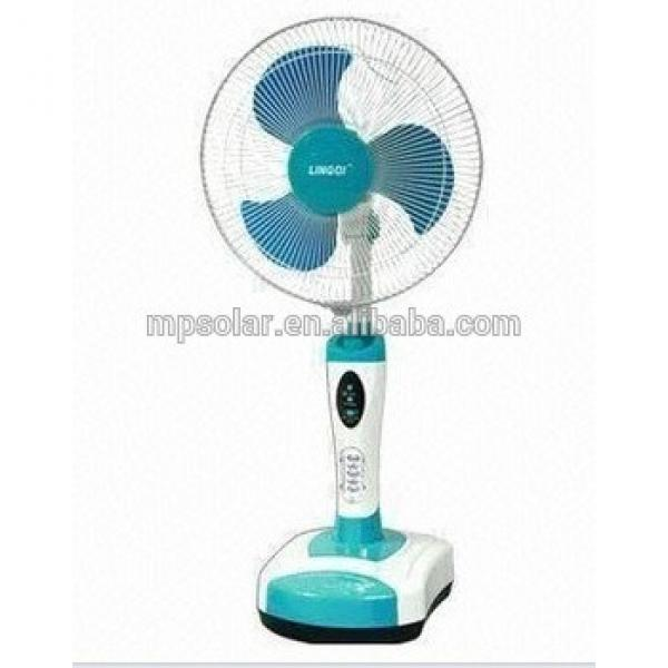 16/18inch rechargeable floor standing fan with 3pp blades factory direct selling