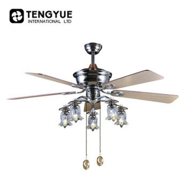 Cheap Price Wholesale 220v 35W 48 inch decorative ceiling fan with lights 4 metal blades vintage ventilation ceiling fans