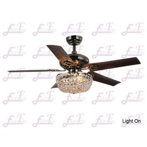 East Fan 42inch Five Blade Indoor Crystal Ceiling Fan with light item EF42104 crystal Ceiling Fan