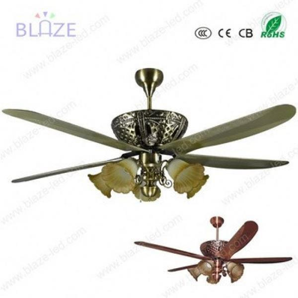 "2017 New Style 42"" Metal blades with LED lights decorative ceiling fan with LED light"