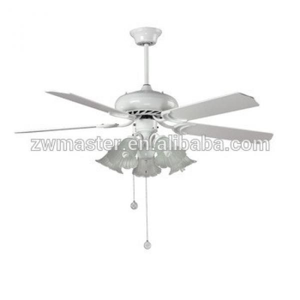 CE new hawaii E27 plywood ceiling fan with 5 decor light