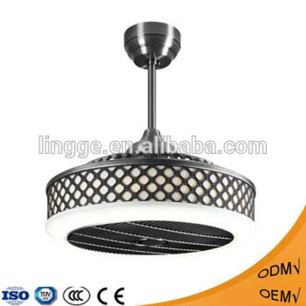 Decorative modern remote control AC LED ceiling fan pendant light