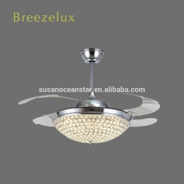 Elegant design 42inch 80w Home decoration invisible blade ceiling fan light