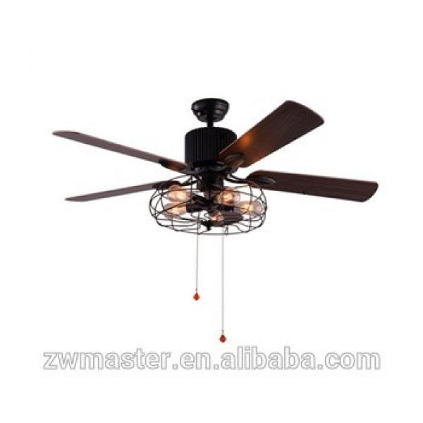 home kitchen decorative cooling wooden blades ceiling fan with lights