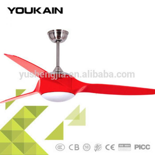 Red ABS plastic blades with light best oem cooling fan