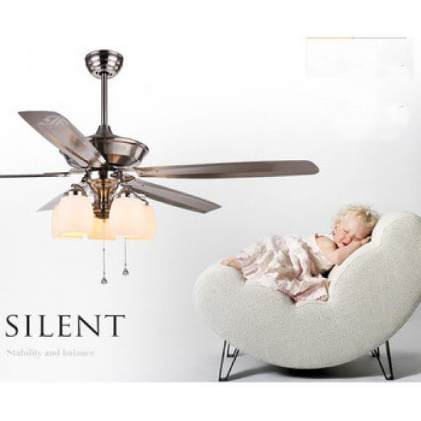 classic design ceiling fan high efficient iron blade with LED lights withremote control