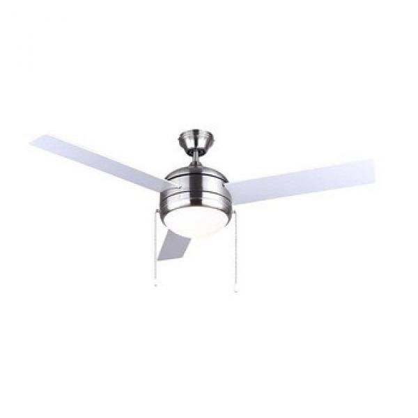 48 inch 3 blades brushed nickel ceiling fan with light