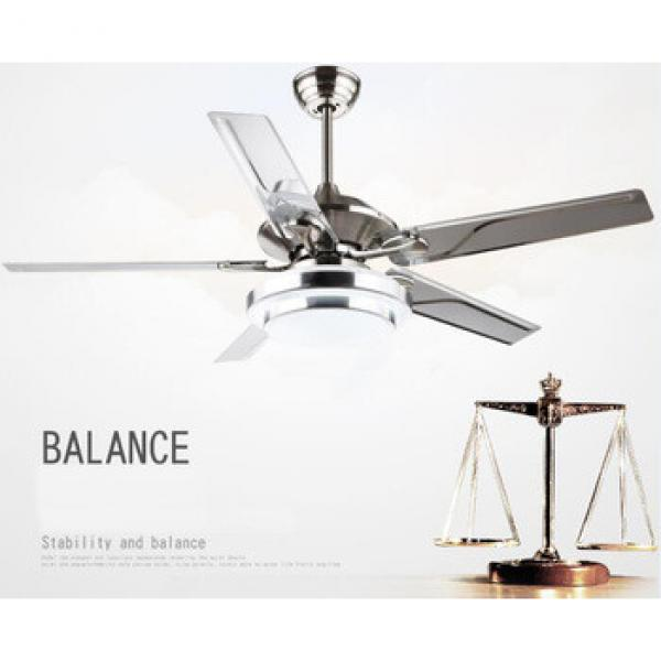 52 inch indoor giant LED ceiling fan with 5 pieces reversible iron blades remote control