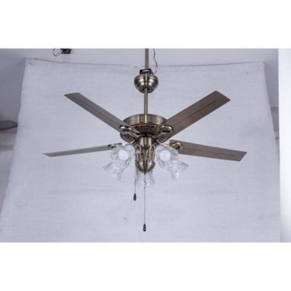 Jiangmen manufactory good quality iron blades ceiling fan light
