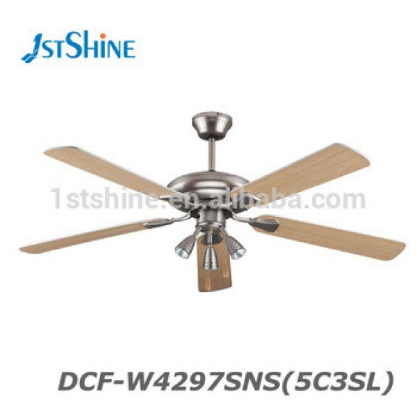 42 Inch 52 Inch MDF Blade Decorative Ceiling Fan With Spot Light and Remote