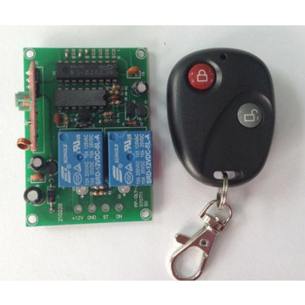 universal used Rf wireless Remote Control with reciever for ceiling fan/garage door 2 channel control unit 12V/24V 110v to 240v